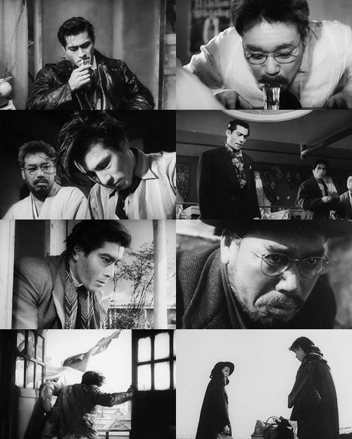 """Drunken Angel"": A yakuza never worries about himself."