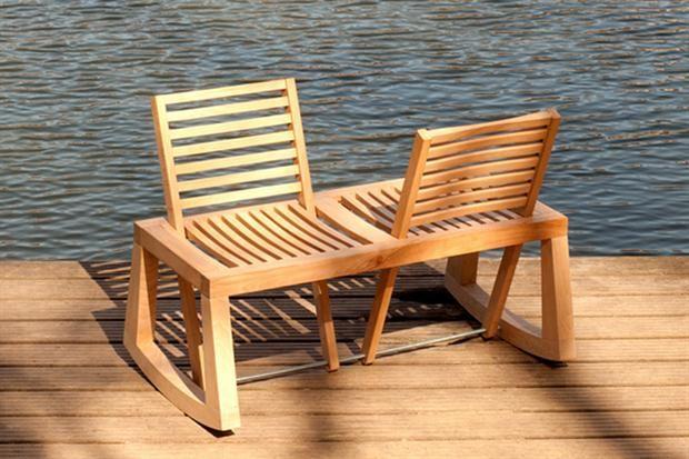 Qué te parece esta silla mecedora para dos?   Sillas mecedoras ...