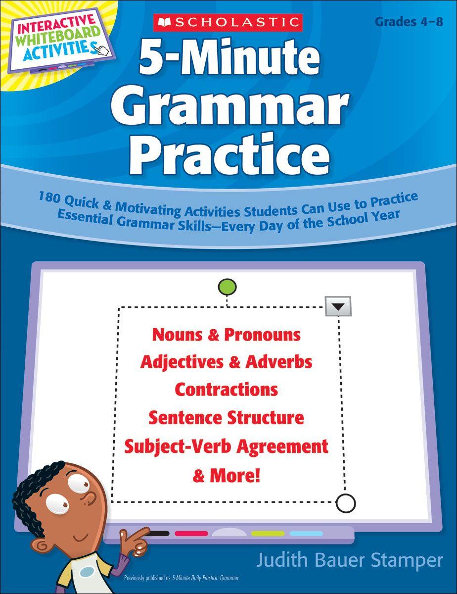 5 Minute Grammar Practice Grammar Practice Grammar Skills Interactive Whiteboard Activities [ 1200 x 924 Pixel ]