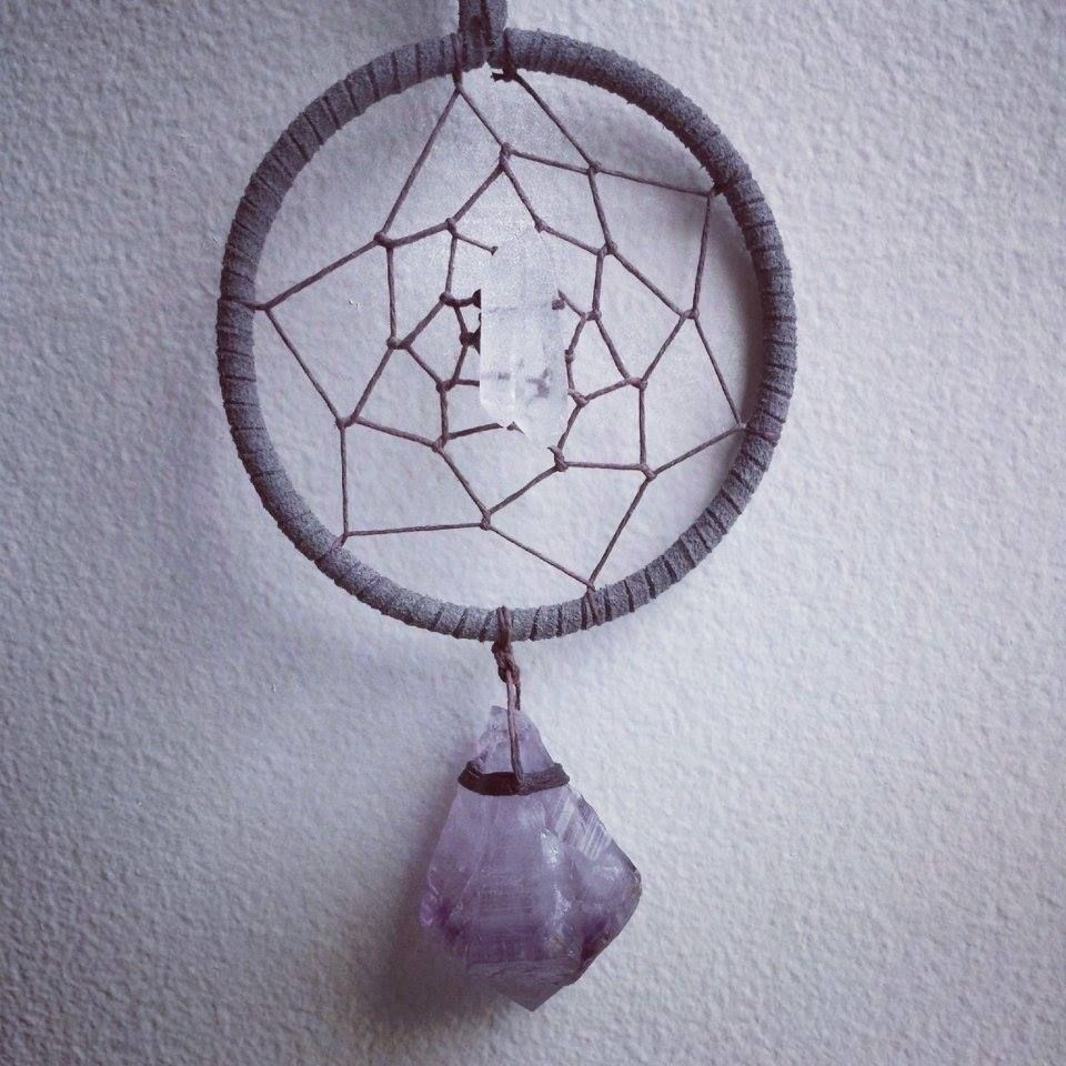Quartz and Amethyst dream catcher by Marlee Cheyanne Watts https://www.etsy.com/ca/shop/MarleeCWatts?ref=si_shop