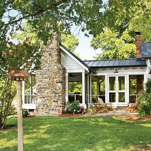 Farmhouse Screened Porch Addition