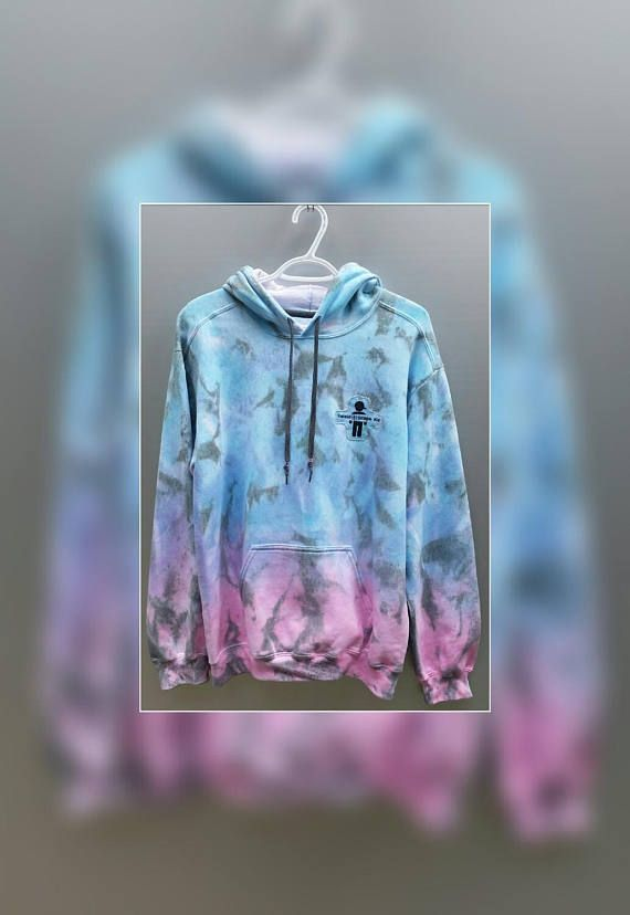 71ba2df417434 Cotton Candy Ombre Tie Dye Hoodie Dip Dyed Adult Unisex   Fashion ...