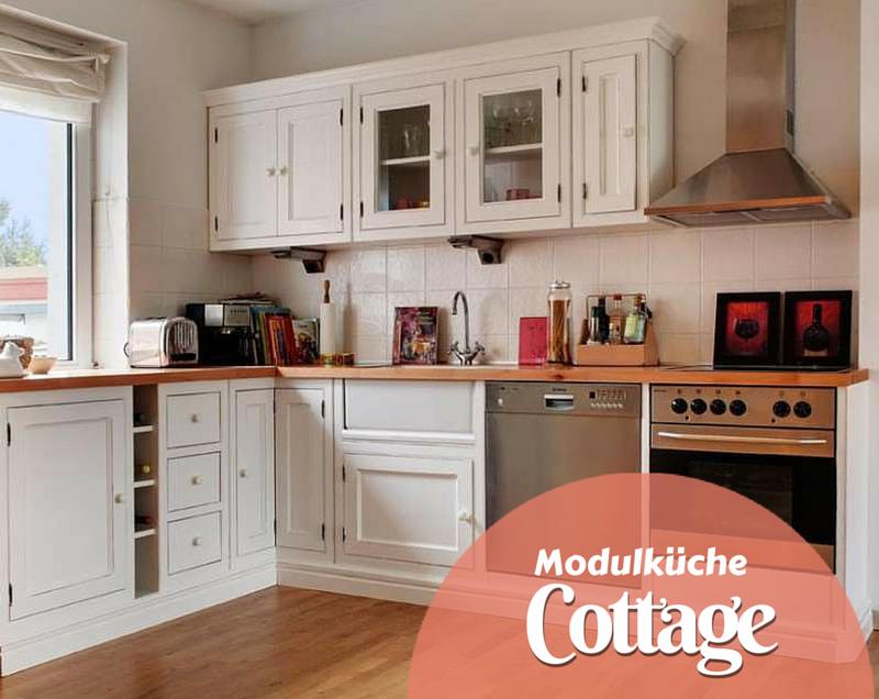 Eine weiße #Landhausküche passt sich perfekt anderen Stilen und ...