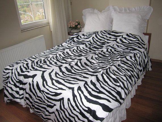 Animal Print Zebra Print Full Or Queen Duvet Cover Nomad Bedding Black And White Full Or Queen Bedding Zebra Print Bedding Black Bedding Queen Duvet Covers