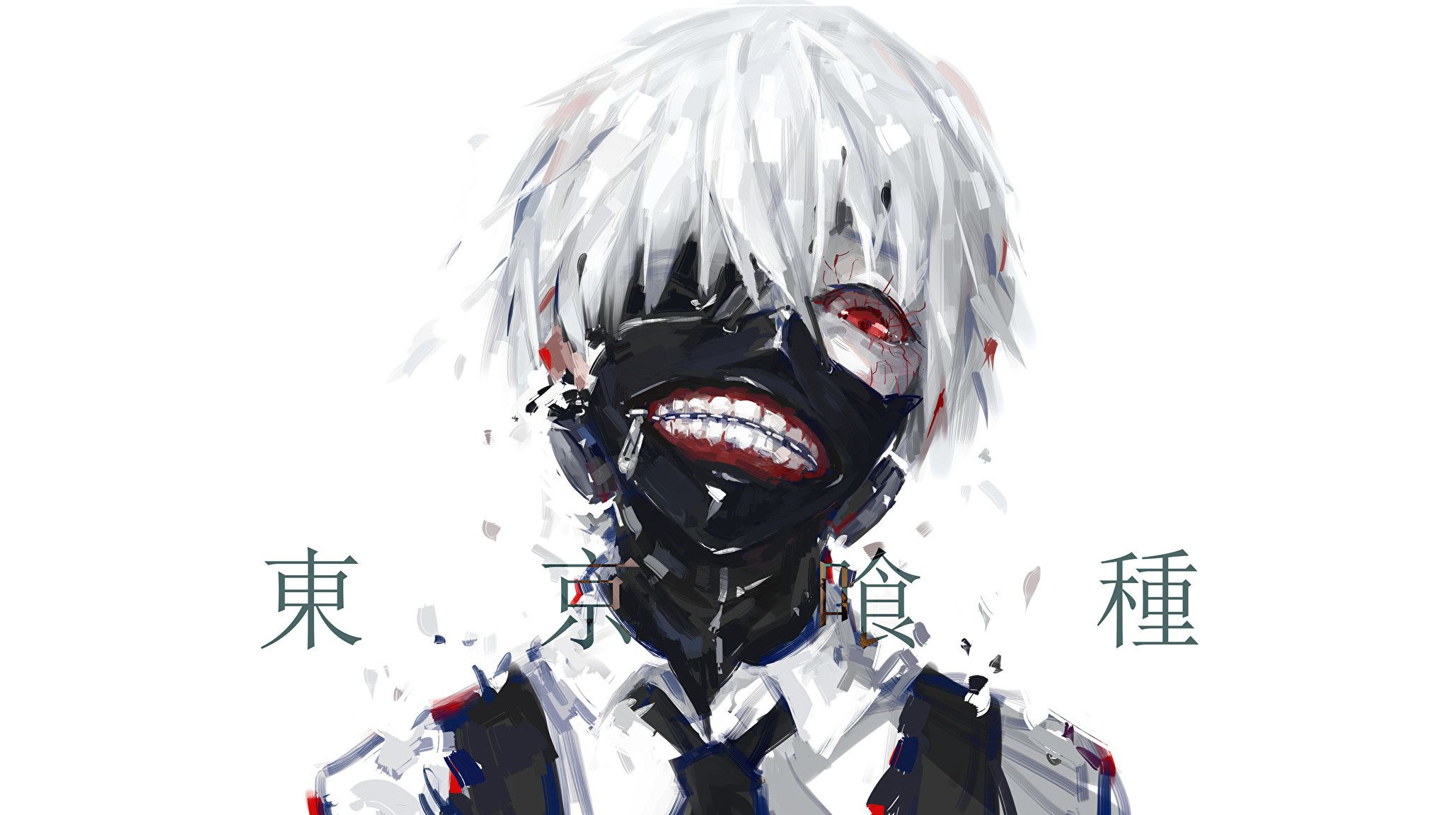 2048x1152 Pictures Tokyo Ghoul Young Man Anime Masks