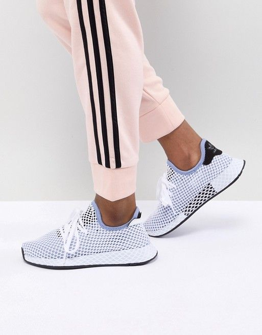 adidas Originals Deerupt Runner Sneakers In Blue  6b22449b7fa