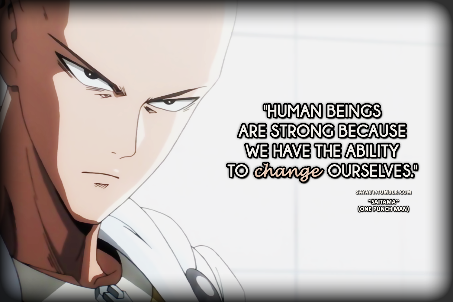 Motivation Quote From Saitama One Punch Man Saitama One Punch Man One Punch Man Cool Drawings
