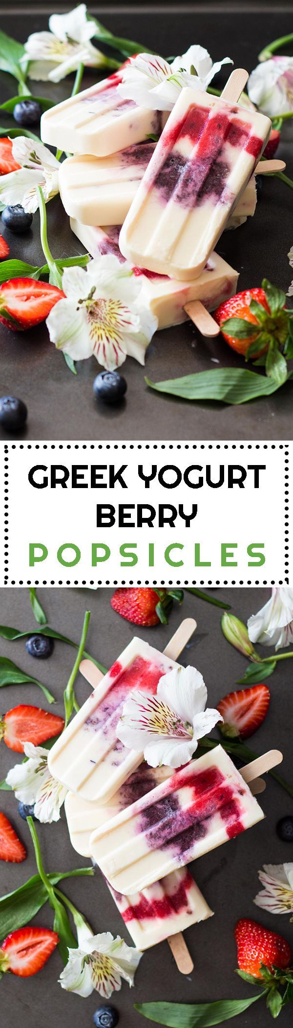 Let the popsicle season begin! Try these Greek Yogurt Berry Popsicles for a healthy spin on our favorite cold dessert without loosing it's magic! YUM!