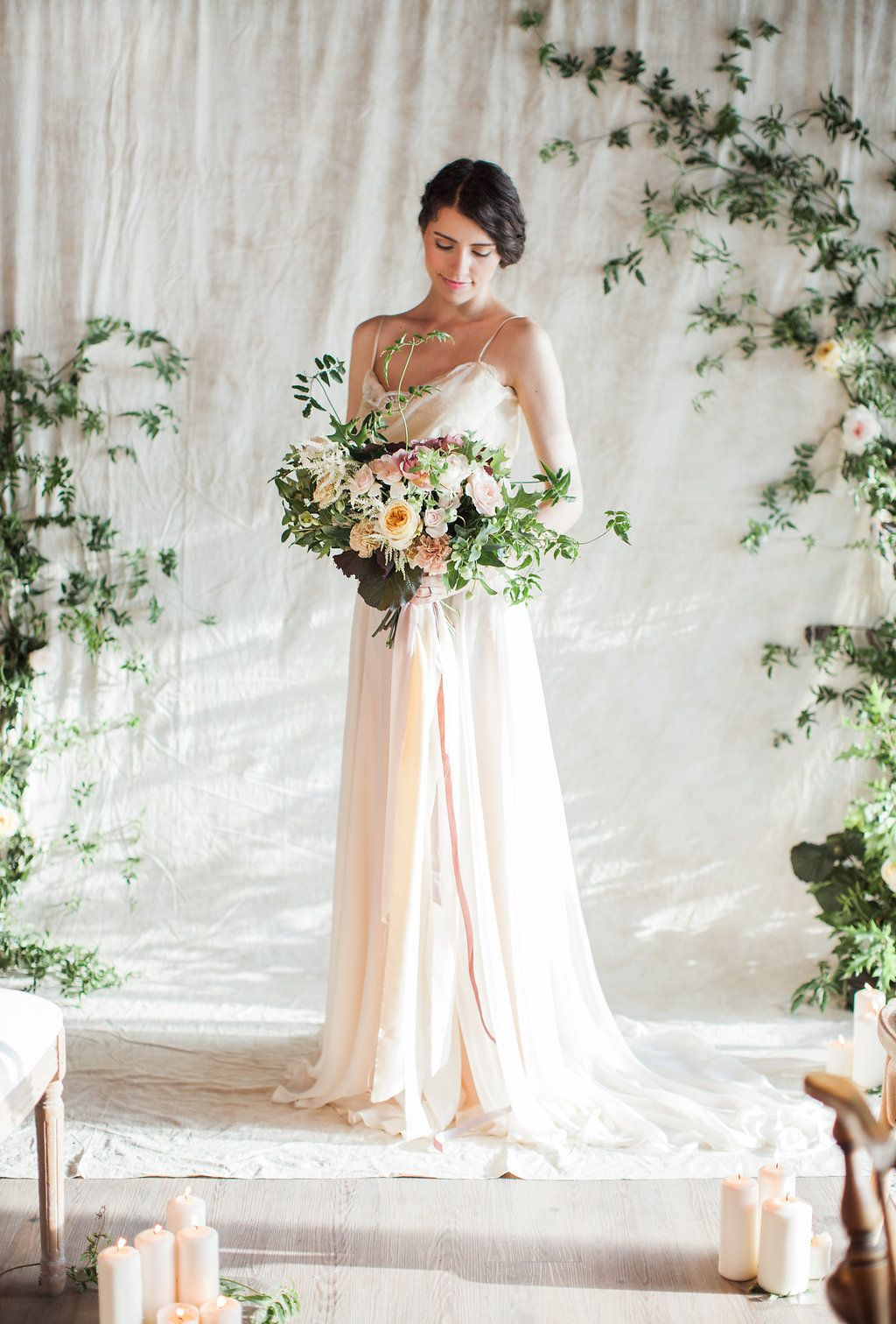 Ellie // Silk, two piece, bohemian wedding dress by House