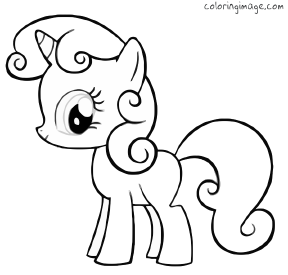 my little pony friendship is magic coloring page