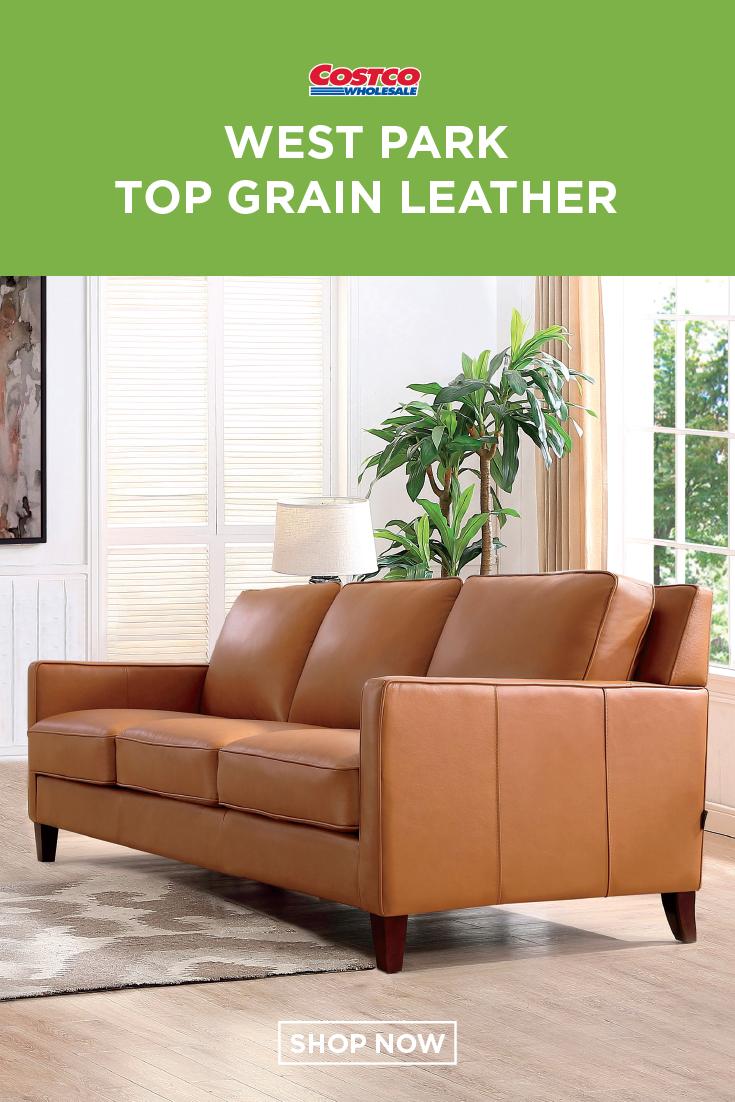 West Park 3-piece Leather Set | White towels, Leather sofa ...