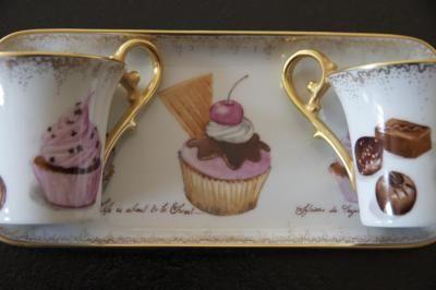 Caf cupcakes peinture sur porcelaine porcelaine art de for Decoration sur porcelaine