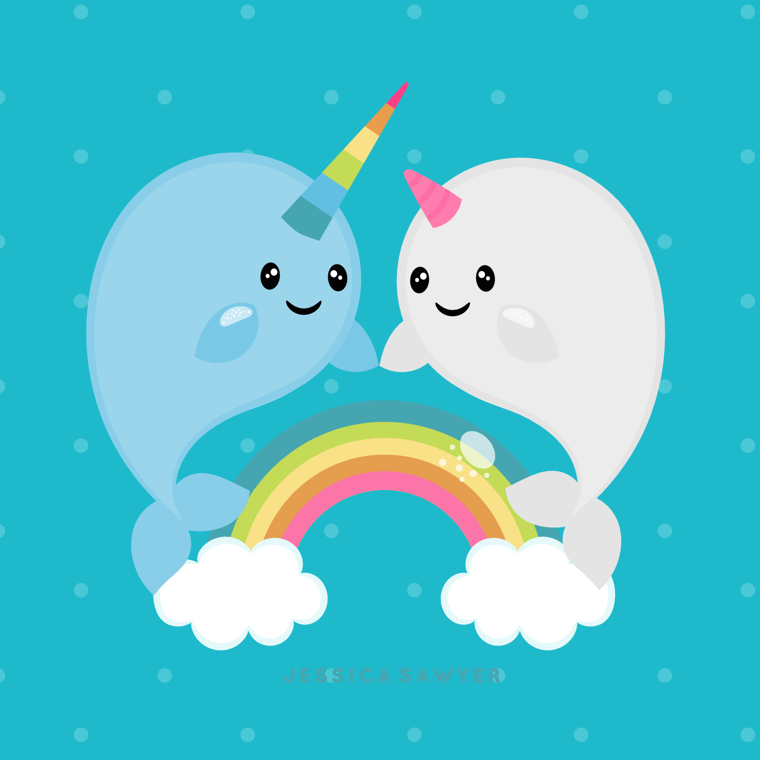 Instant Download Narwhal Clipart And Vectors For Personal Etsy Cute Narwhal Narwhal Clip Art