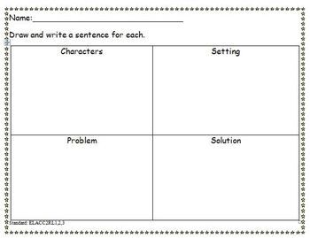 Common Core Worksheet for Characters, Setting, Problem, Solution ...