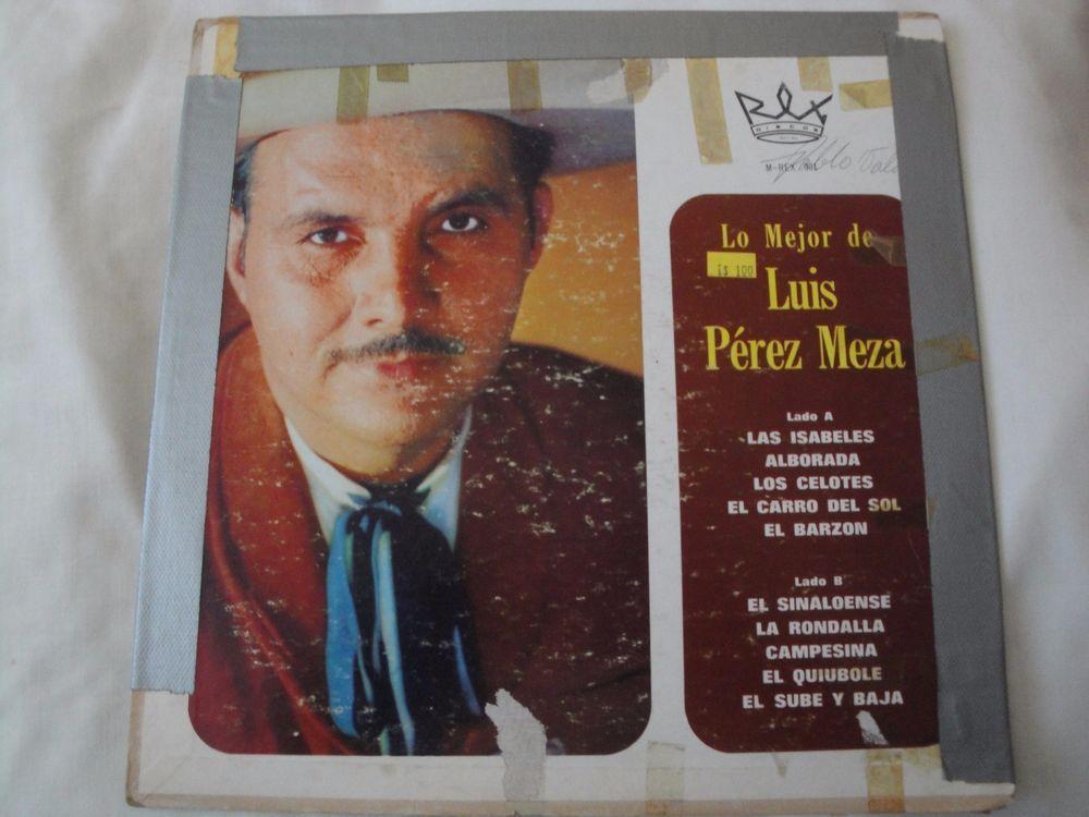 LO MEJOR DE LUIS PEREZ MEZA VINYL LP ORIGINAL REX DISCOS M-REX-001  #LatinPopMariachiMexicanSonRockenEspaolTejanoTexMex
