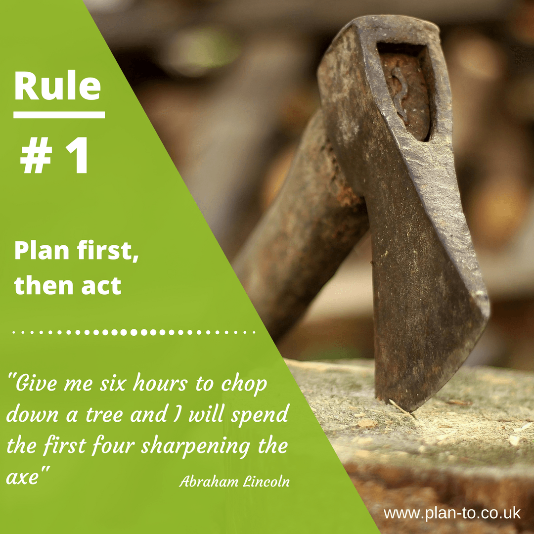 Planning tips - Rule#1