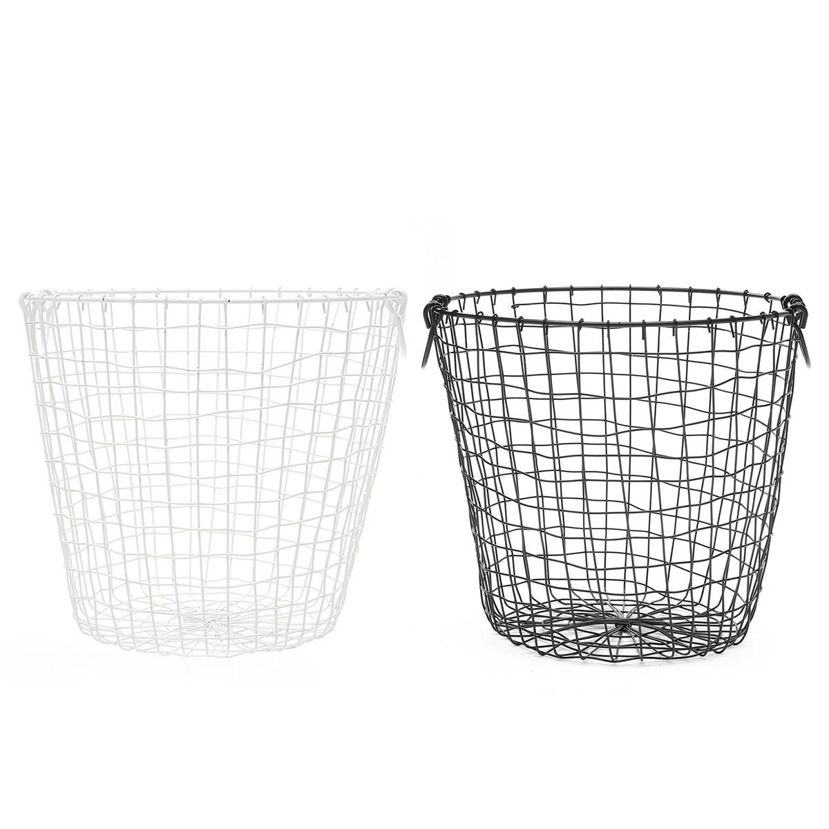 US$31.55 35cm Trash Can Garbage Waste Metal Wire Basket
