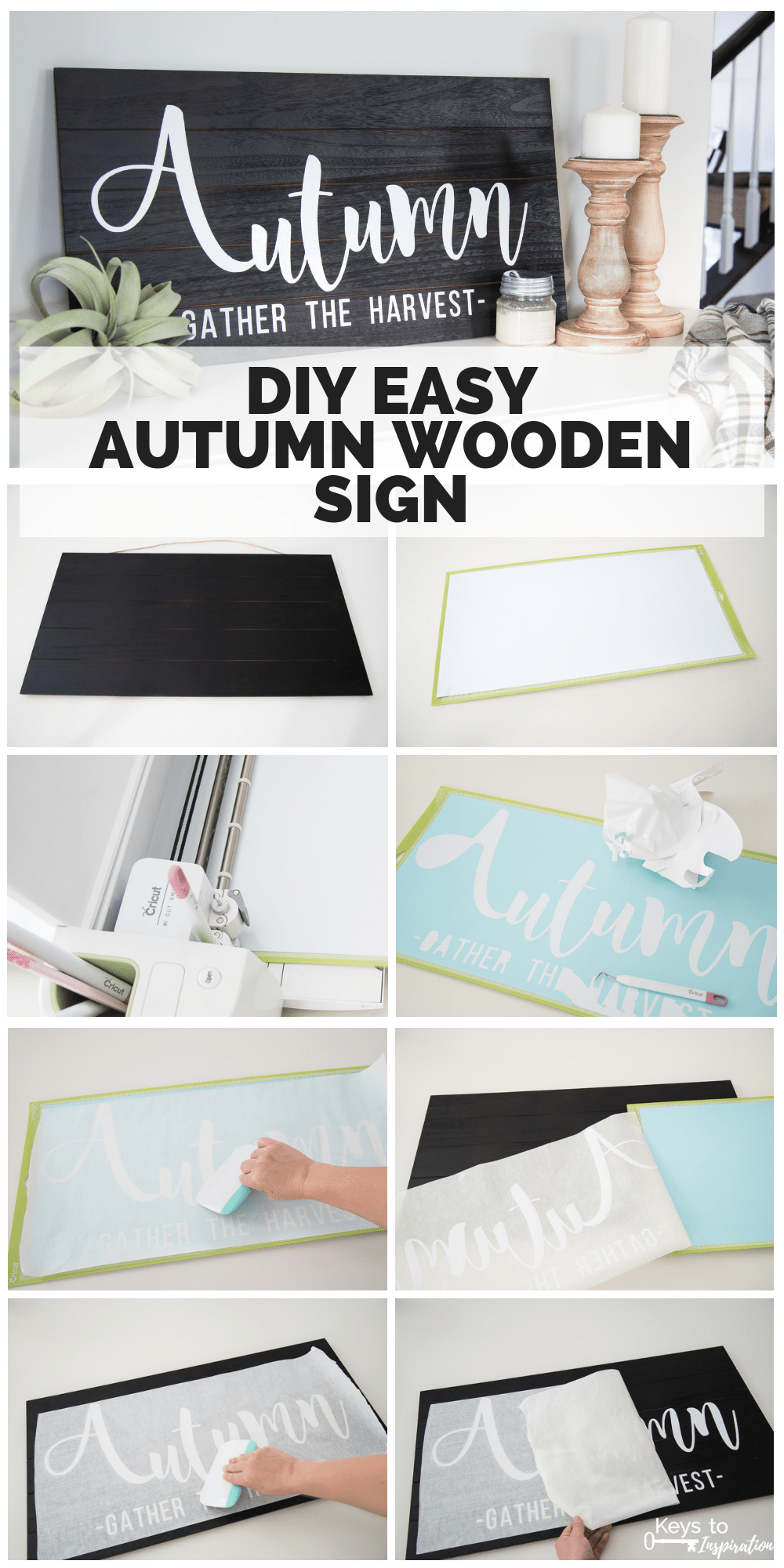 DIY Easy Autumn Wooden Sign » Keys To Inspiration