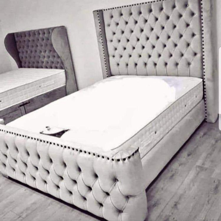 Arianna Premier Velvet Storage Ottoman Bed Ottoman Storage Bed