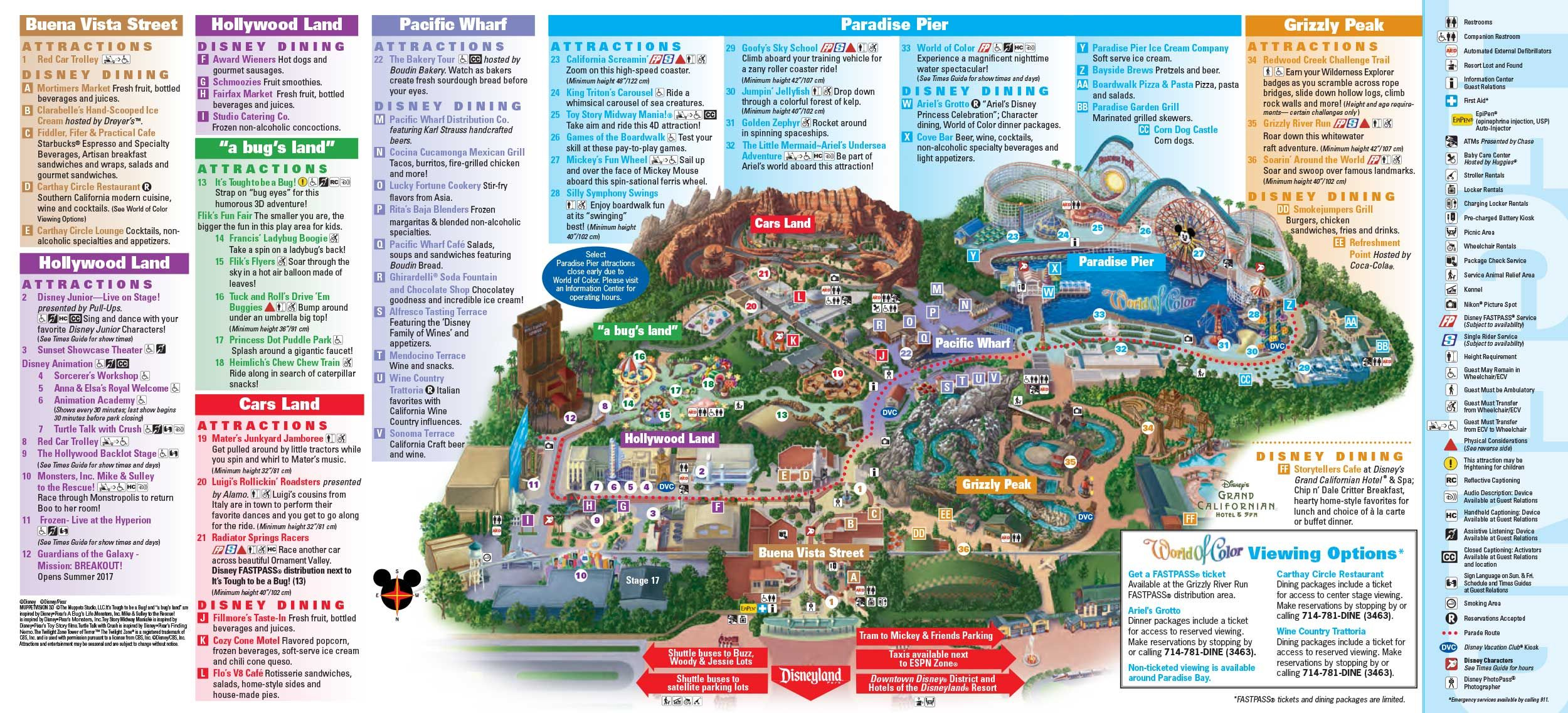 Map Of California Disney.Disneyland Park Map In California Map Of Disneyland Disneyland