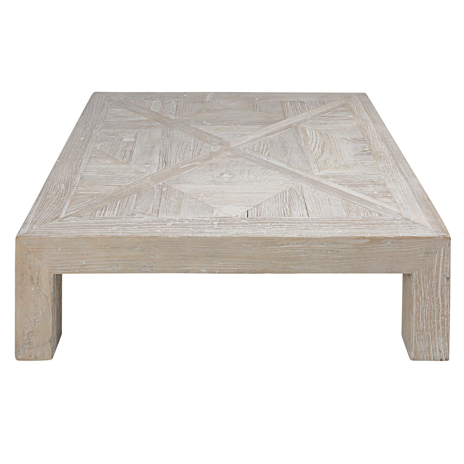 Table Basse En Orme Massif Recycle Blanchi Maisons Du Monde Table Basse Table Basse Indienne Deco Table Basse
