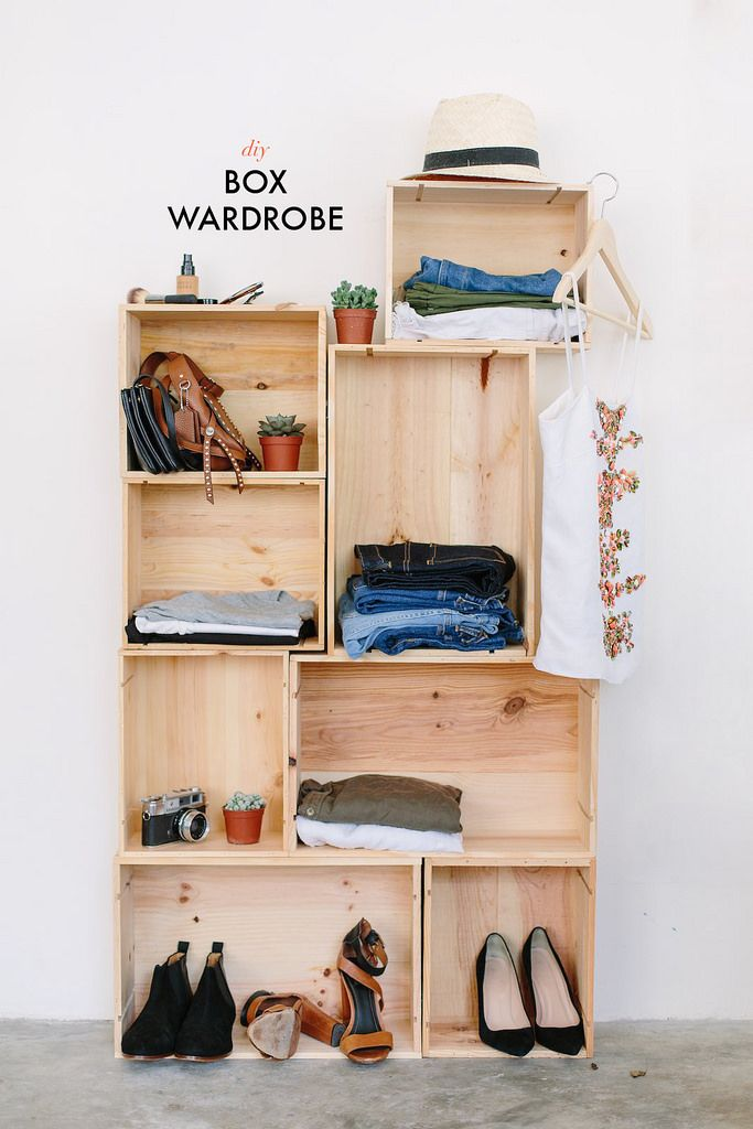 diy box wardrobe dorm