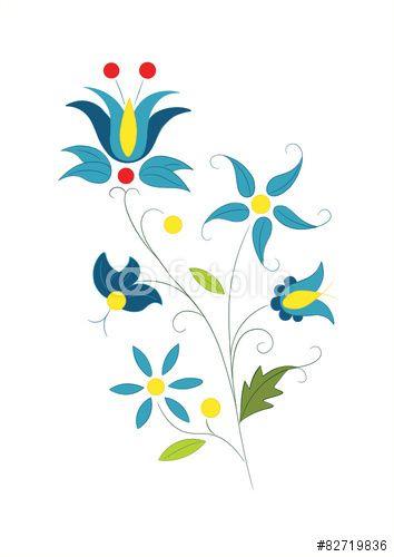 Haft Kaszubski Obrazow Stockowych I Plikow Wektorowych Royalty Free W Fotolia Com Obraz 82719836 Folk Art Flowers Polish Folk Art Scandinavian Embroidery