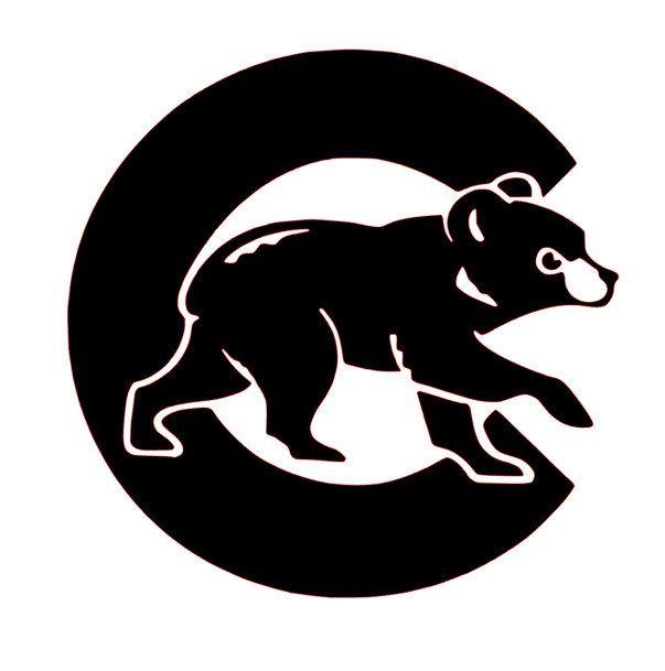 Chicago bears cubs. Cubby bear vinyl decal