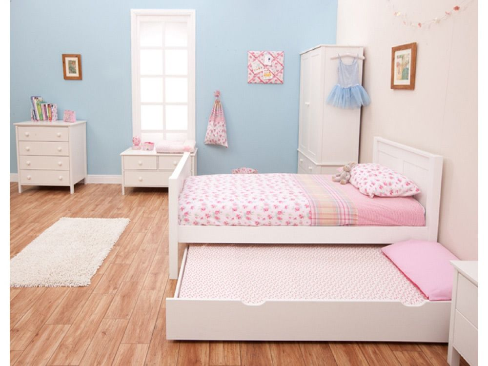 Stompa classic kids white 3ft single bed bedroom White childrens bedroom furniture