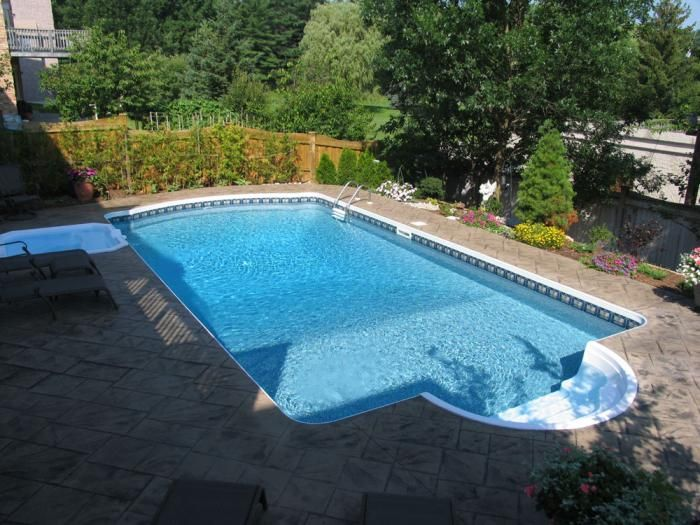Backyard Getaways Custom Swimming Pools Backyards Toronto Home Ideas Patio Con Piscina