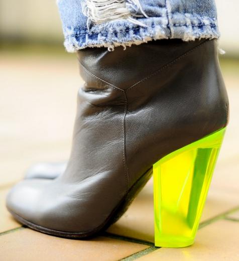 3d90f5d03 Marc by Marc Jacobs plexi heel boots