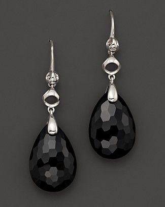 "Di MODOLO Sterling Silver And Black Onyx Triadra ""Icon"" Drop Earrings 