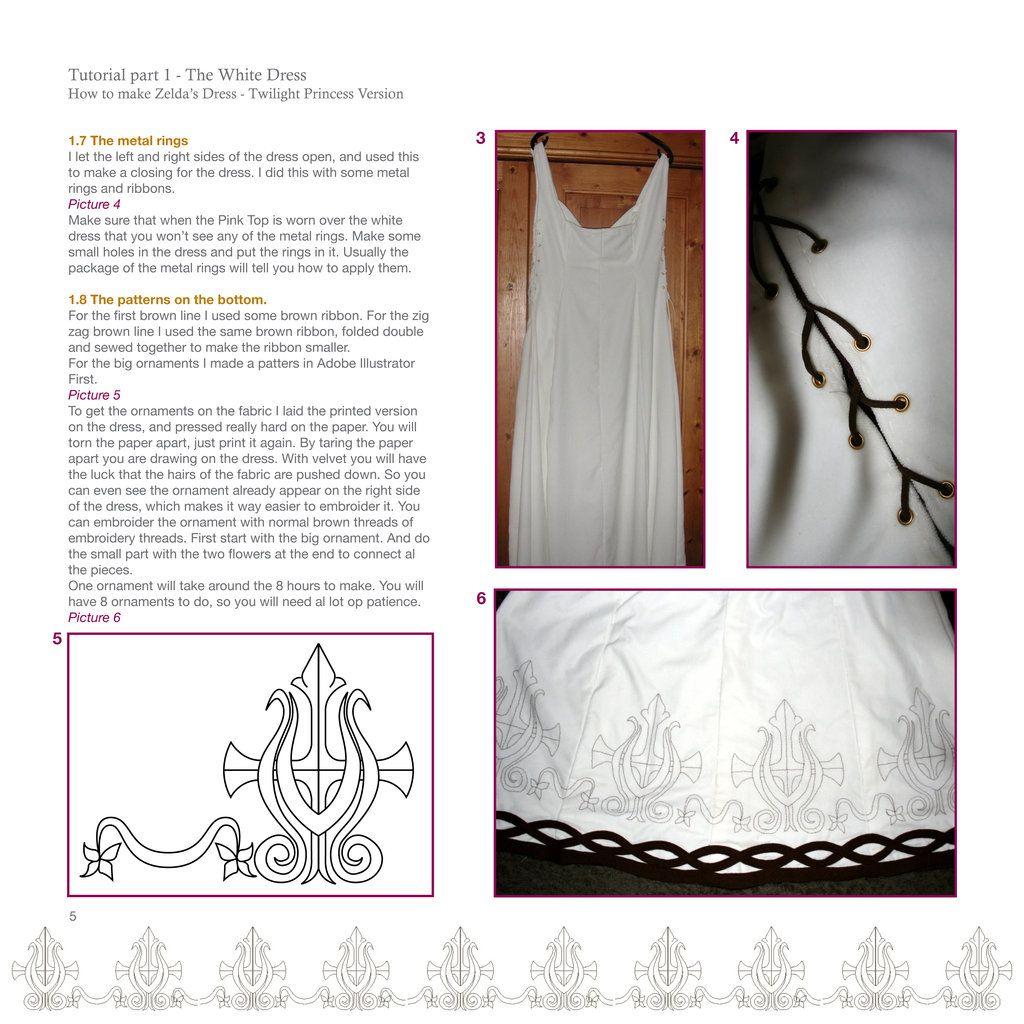 Zelda Dress Tutorial Page 5 By Riluna Deviantart Com Amanda R