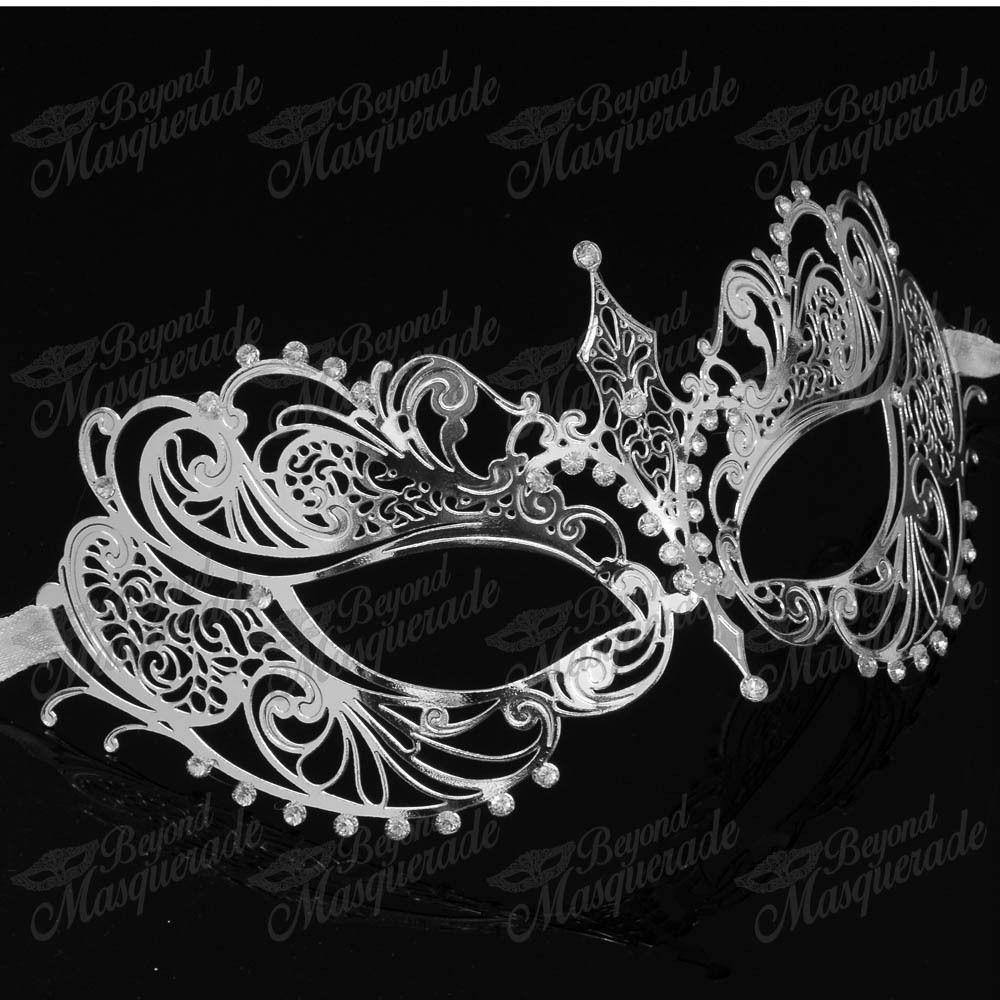 Women extravagant luxury filigree laser cut venetian masquerade mask
