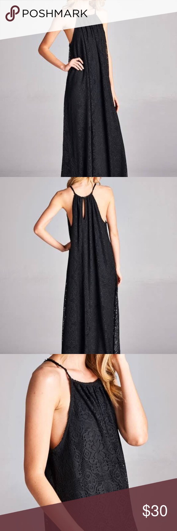 Woven open shoulder maxi dress with side cut out size sm but is