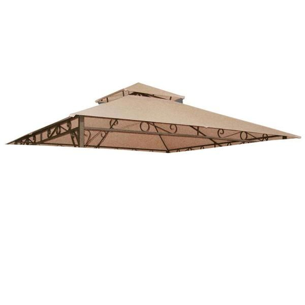 Thelashop 10x10 Ft Garden Gazebo Top Replacement Canopy Tan Gazebo Canopy Gazebo Canopy Outdoor