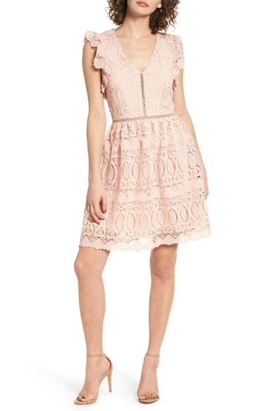 J O A Lace Fit Flare Dress Available At Nordstrom