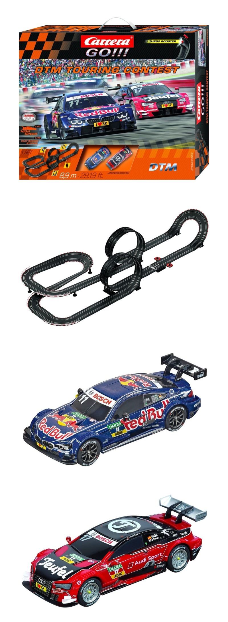 1 43 Scale 164793 Carrera Go Dtm Touring Contest 1 43 Scale Analog Slot Car Race Set 62423 Buy It Now Only 99 99 On E Slot Car Racing Carrera Touring