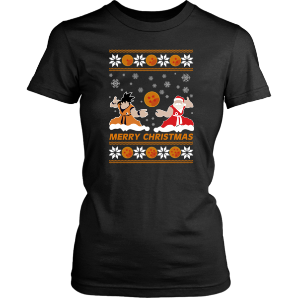 Merry Christmas Son Goku Santa Claus Shirt Dragon Ball Shirt Balls Shirt Anime Shirt Santa Claus Shirts