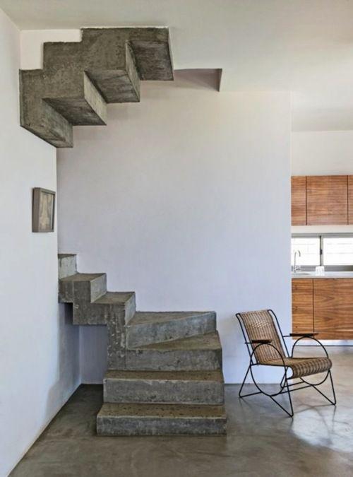 Escaliers en béton Archi intérieur Pinterest Concrete stairs - escalier interieur de villa
