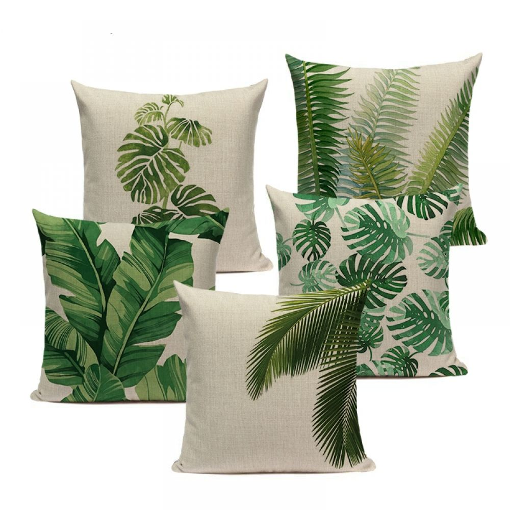 Tropical Leaves Printed Pillow Case Price 20.205 & FREE Shipping ...