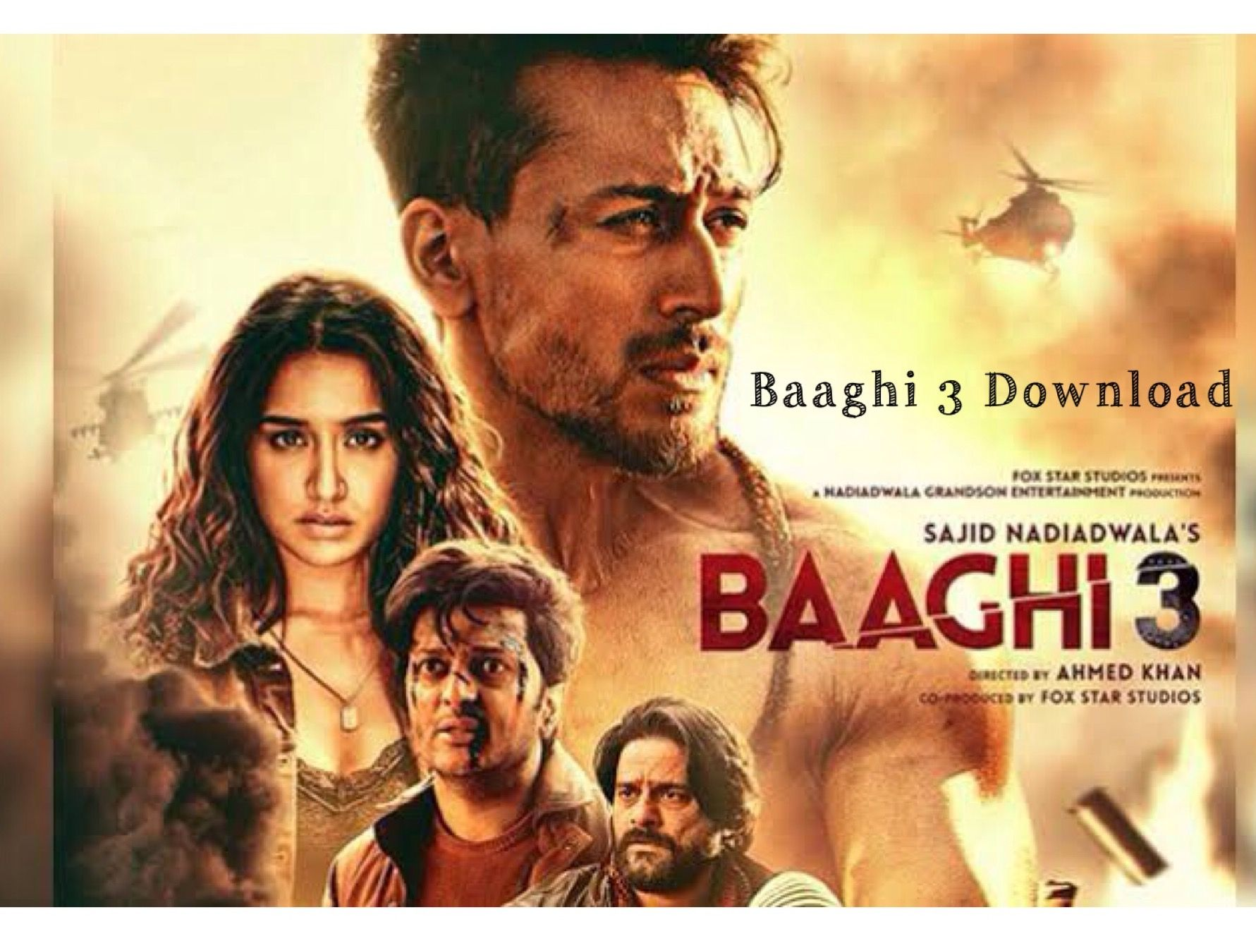 Baaghi 3 Bollywood Movie Cinema Print Download Full Movies Download Full Movies Hindi Movies