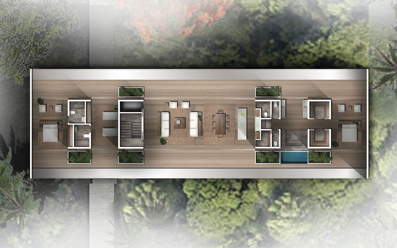 Mandarin Tree Top Villas Home Design Floor Plans Rendered Floor Plan Architectural Floor Plans