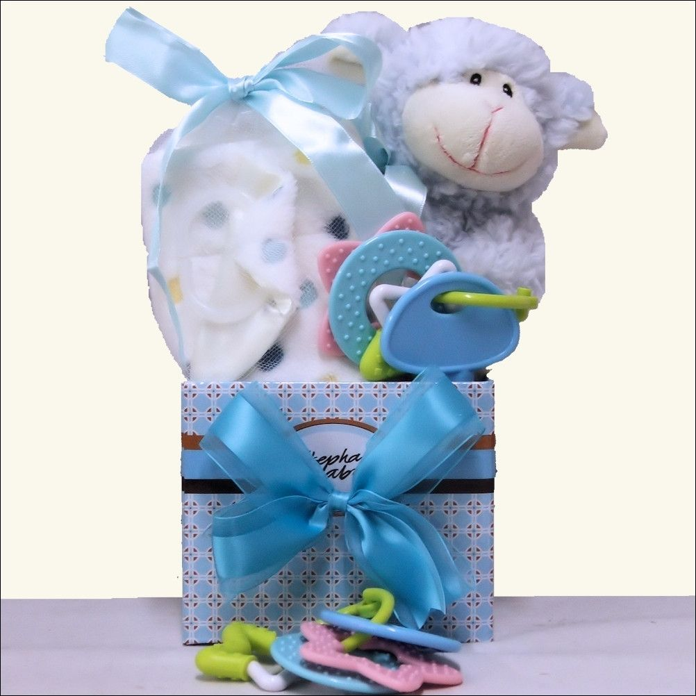 Happy easter baby boy easter gift basket newborn to 18 months happy easter baby boy easter gift basket newborn to 18 months negle Image collections