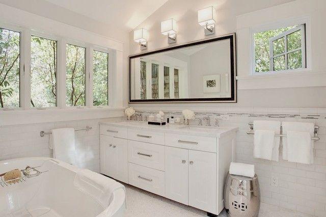 Houzz White Bathrooms Bathroom Mirror