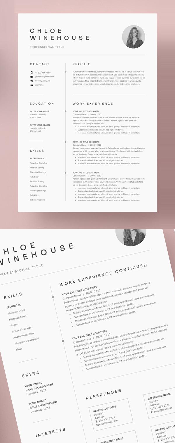 Resume Templates Clean Design Design Graphic Design Junction Cover Letter For Resume Minimalist Resume Template Cover Letter Template