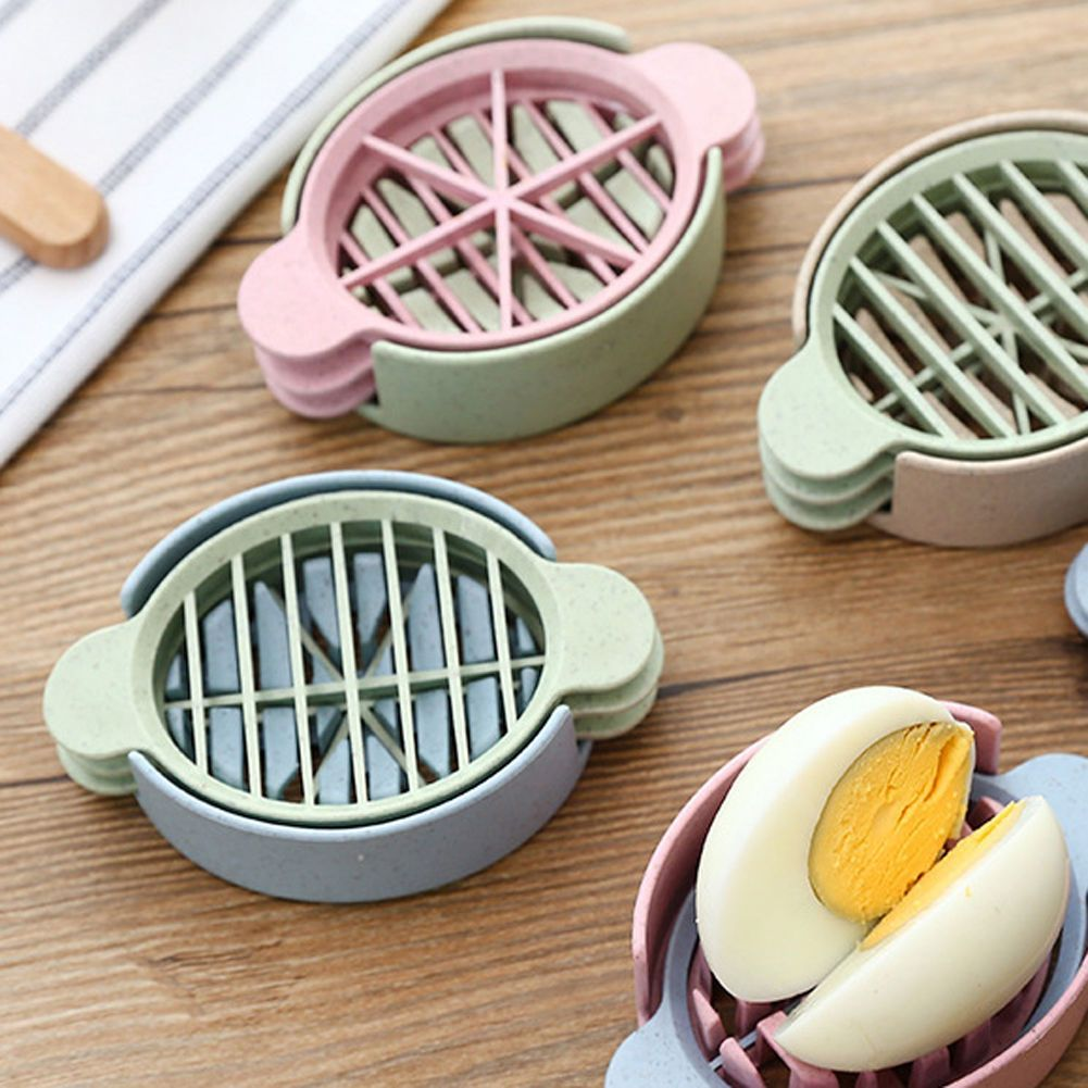 Healthy natural wheat straw boiled egg fruit slicer egg