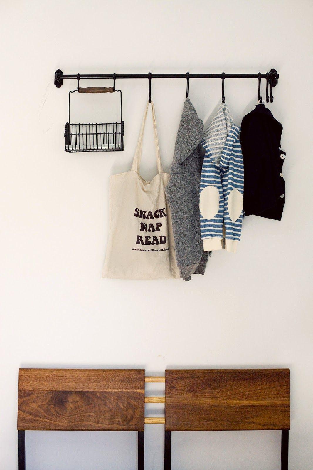 Hallway coat closet  A CUP OF JO Los Angeles home tour  Build me  Pinterest  Los