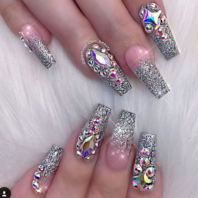 Pin By A M A I D A On Iaiℓye It Bling Acrylic Nails Acrylic Nails Coffin Glitter Coffin Nails Designs