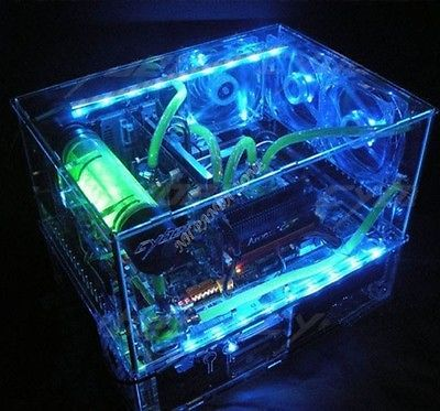 Diy Acrylic Full Water Computer Transparent Computer Case Atx Double